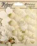 Petaloo - Textured Collection - Mixed Layering Flowers - Ivory