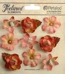 Petaloo - Textured Collection - Floral Embellishments - Mini - Salmon