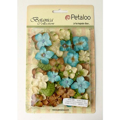 Petaloo - Chantilly Collection - Velvet Hydrangeas - Blue