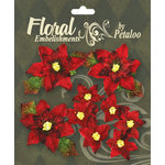 Petaloo - Chantilly Collection - Christmas - Velvet Poinsettias - Red