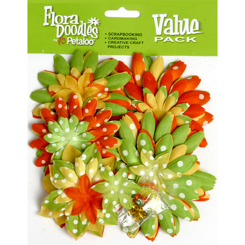 Petaloo - Flora Doodles Collection - Layering Fabric Flowers - Citronelle