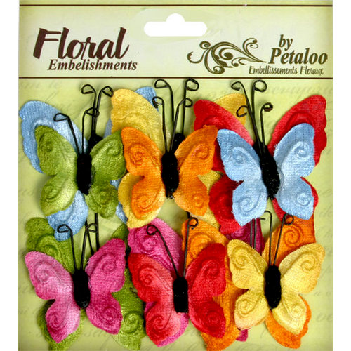 Petaloo - Chantilly Collection - Velvet Butterflies - Brites