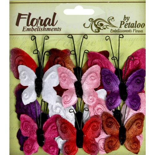 Petaloo - Chantilly Collection - Velvet Butterflies - Love