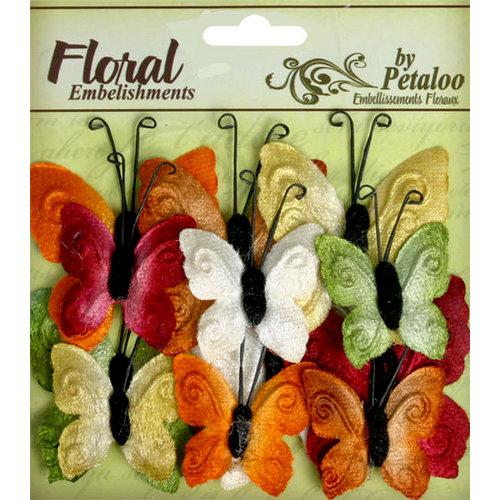 Petaloo - Chantilly Collection - Velvet Butterflies - Earthtones