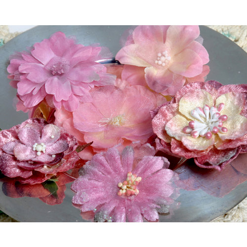 Petaloo - Chantilly Collection - Mixed Blooms Flowers - Mauve