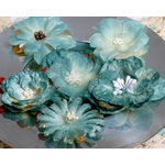Petaloo - Chantilly Collection - Mixed Blooms Flowers - Blue