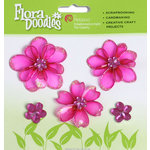 Petaloo - Flora Doodles Collection - Jeweled Candies - Mini Flowers - Fuchsia