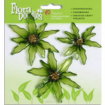 Petaloo - Flora Doodles Collection - Christmas - Glittered Candies - Poinsettias - Green