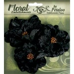 Petaloo - Chantilly Collection - Velvet Wild Roses - Black