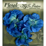 Petaloo - Chantilly Collection - Velvet Wild Roses - Dark Blue