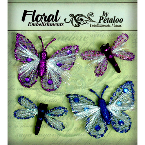 Petaloo - Devon Collection - Glitter Critters - Purple and Blue
