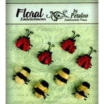 Petaloo - Devon Collection - Glitter Critters - Bees and Ladybugs