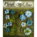 Petaloo - Chantilly Collection - Velvet Mini Blossoms - Dark Blue