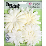 Petaloo - Flora Doodles Collection - Layering Fabric and Glitter Flowers - Daisies - Large - Pearl