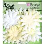 Petaloo - Flora Doodles Collection - Layering Fabric and Glitter Flowers - Daisies - Small - Pearl
