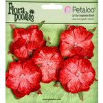 Petaloo - Flora Doodles Collection - Velvet Wild Roses - Small - Poppy Red