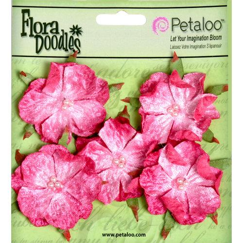 Petaloo - Flora Doodles Collection - Velvet Wild Roses - Small - Fuschia