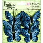Petaloo - Flora Doodles Collection - Velvet Butterflies - Medium - Deep Blue