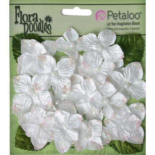 Petaloo - Flora Doodles Collection - Velvet Hydrangeas - White