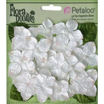 Petaloo - Flora Doodles Collection - Velvet Hydrangeas - White