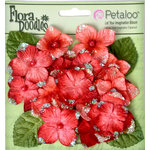 Petaloo - Flora Doodles Collection - Velvet Hydrangeas - Red