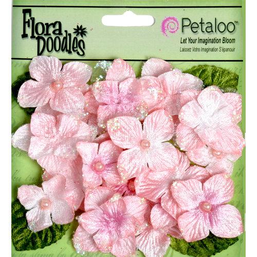Petaloo - Flora Doodles Collection - Velvet Hydrangeas - Soft Pink