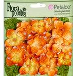 Petaloo - Flora Doodles Collection - Velvet Hydrangeas - Orangeade