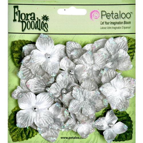 Petaloo - Flora Doodles Collection - Velvet Hydrangeas - Silver Gray
