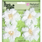 Petaloo - Flora Doodles Collection - Beaded Peonies - Small - White