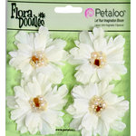 Petaloo - Flora Doodles Collection - Beaded Peonies - Small - Cream