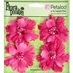 Petaloo - Flora Doodles Collection - Beaded Peonies - Small - Fuschia