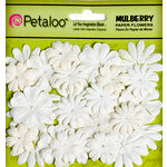 Petaloo - Flora Doodles Collection - Mulberry Flowers - Mini - Delphiniums - All White