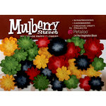 Petaloo - Mulberry Street Collection - Handmade Paper Flowers - Mini Delphiniums - Red Yellow Dark Blue and Green, CLEARANCE