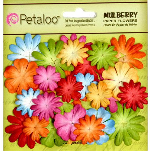 Petaloo - Flora Doodles Collection - Mulberry Flowers - Mini - Delphiniums - Brites