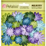 Petaloo - Flora Doodles Collection - Mulberry Flowers - Mini - Delphiniums - Cooltones