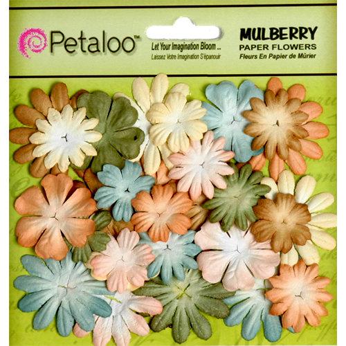 Petaloo - Flora Doodles Collection - Mulberry Flowers - Mini - Delphiniums - Vintage Victorian