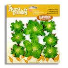 Petaloo - Flora Doodles - Handmade Paper Flowers - Wild Roses - Chartreuse, CLEARANCE