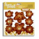Petaloo - Flora Doodles - Handmade Paper Flowers - Wild Roses - Mocha, CLEARANCE