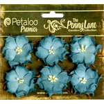 Petaloo - Penny Lane Collection - Floral Embellishments - Wild Roses - Mulberry Street - Teal