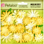 Petaloo - Flora Doodles Collection - Mulberry Flowers - Mini Daisies with Tyedye - Yellow