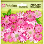 Petaloo - Flora Doodles Collection - Mulberry Flowers - Mini Daisies with Tyedye - Fuschia