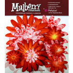 Petaloo - Mulberry Street Collection - Handmade Paper Flowers - Large Daisies with Tyedye - Orange, CLEARANCE