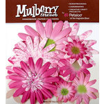 Petaloo - Mulberry Street Collection - Handmade Paper Flowers - Large Daisies with Tyedye - Fuschia, CLEARANCE