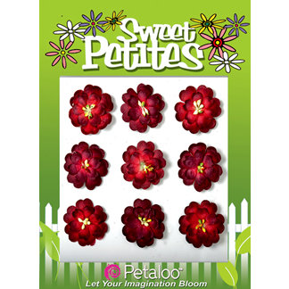 Petaloo - Sweet Petites Collection - Handmade Paper Flowers - Double Delphiniums - Red Mix, CLEARANCE