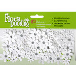 Petaloo - Flora Doodles Collection - Handmade Paper Flowers - Jeweled Florettes - All White