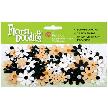 Petaloo - Flora Doodles Collection - Handmade Paper Flowers - Jeweled Florettes - Celebrity