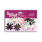Petaloo - Flora Doodles - Firecracker Daisies - Handmade Cotton Flowers - Pink Poodle