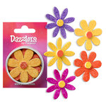 Petaloo - Dazzlers Collection - Large Glittered Florettes - Yellow Orange Fuschia and Lavender, CLEARANCE