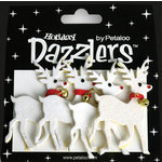 Petaloo - Dazzlers Collection - Glittered Shapes - Traditional Christmas - Reindeer