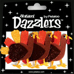 Petaloo - Dazzlers Collection - Glittered Shapes - Fall and Halloween - Turkeys